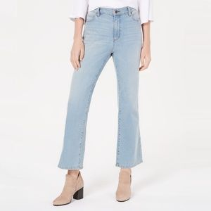 Eileen Fisher High Waist Ankle Bootcut Jeans